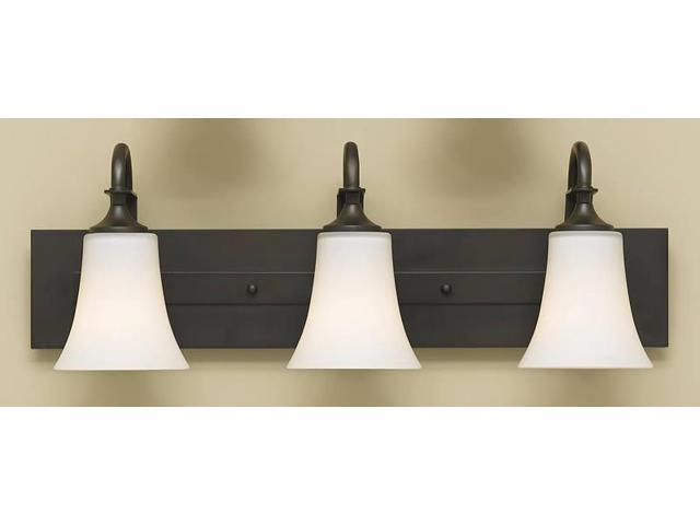 Feiss Canterbury 3 Light Vanity Fixture Oil Rubbed Bronze: Feiss Barrington 3-Light Vanity Fixture, Oil Rubbed Bronze