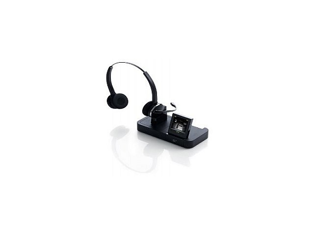 154c6b3c3c3 Jabra PRO 9465 Duo Wireless Headset with Touchscreen for Deskphone,  Softphone & Mobile Phone