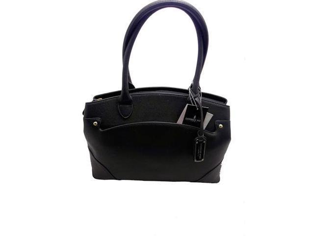 London Fog Handbag Lfp6525 Large Tote Black Newegg Com