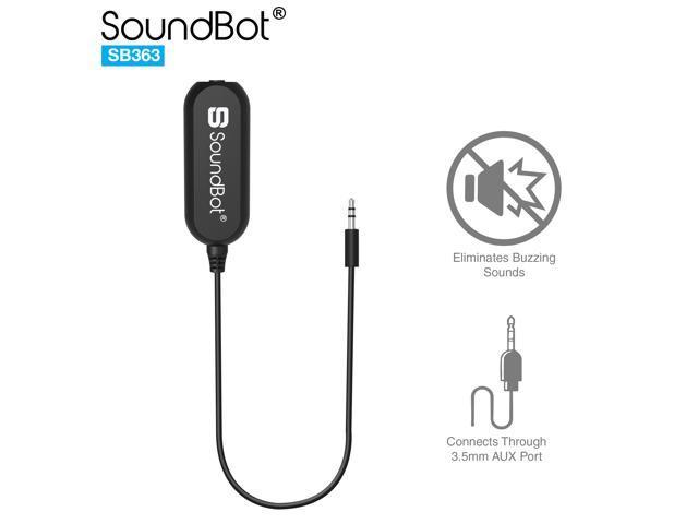 soundbot 3 5mm ground loop noise isolator remover  buzz