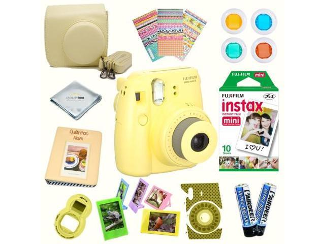 Fujifilm Instax Mini 8 Yellow Deluxe Kit Bundle Includes