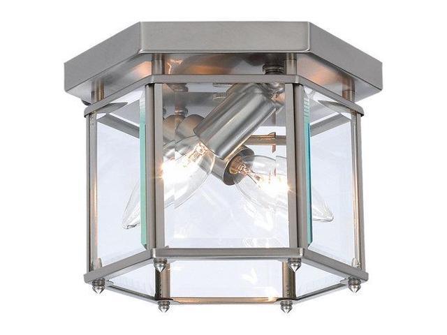 Sea Gull Lighting 44236 962 2 Light Brushed Nickel: Sea Gull Lighting Two-Light Bretton Ceiling In Brushed