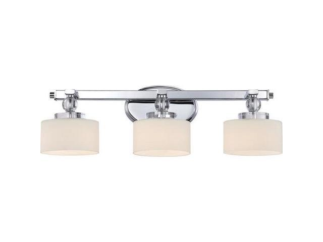 Quoizel 3 Light Downtown Bath Fixture In Polished Chrome