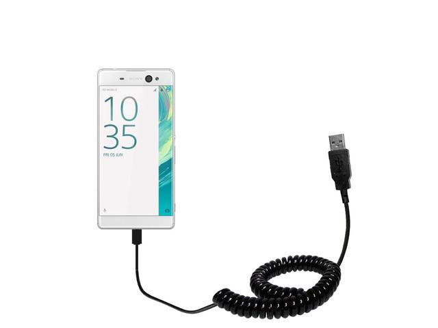 Coiled Usb Cable Compatible With The Sony Xperia Xa Ultra