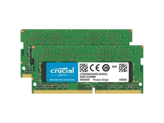 Crucial 64GB Kit (32GBx2) DDR4 2666 MT/s CL19 SODIMM 260-Pin Memory - CT2K32G4SFD8266
