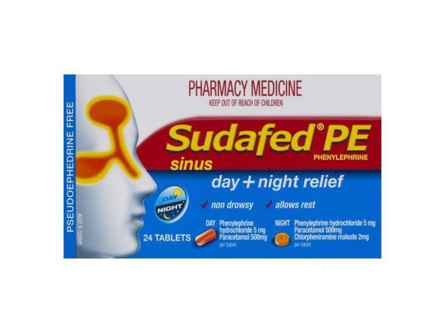 Sudafed Day & Night Relief 24 Tabs - Newegg com
