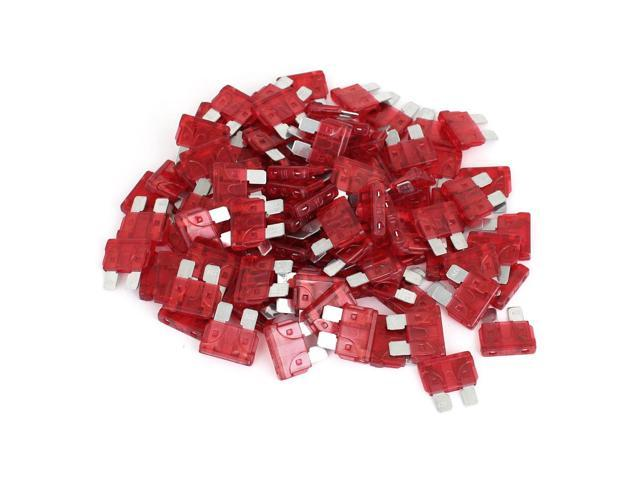 25 Pack 10 Amp Two Prong Blade Plug-in ATC Fuses