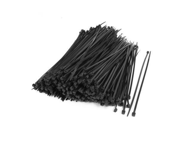 500PCS Nylon Zip Trim Wrap Loop Flexible Wire Cable Tie 4mmx200mm ...