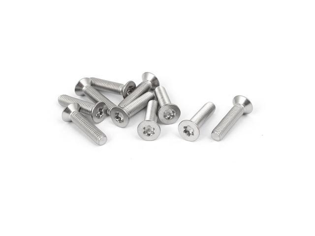 M5 x 22mm 316 Stainless Steel Flat Torx Head Machine Screw Silver Tone  10pcs - Newegg com