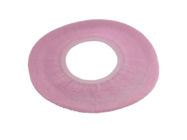 Fabulous Bathroom Toilet Seat Lid Cover Dark Pink Cloth Round Pad Warmer Newegg Com Machost Co Dining Chair Design Ideas Machostcouk
