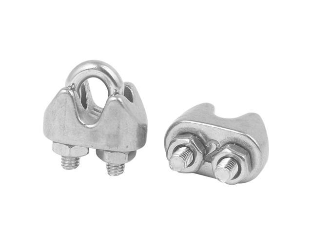 M2 304 Stainless Steel U Shape Bolt Saddle Clamp Cable