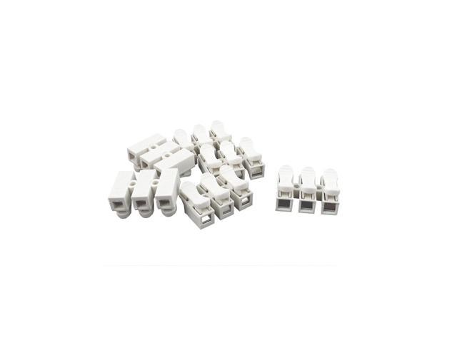 unique bargains ac 380v 10a 3p screwless press type terminal blocks white 6 pcs