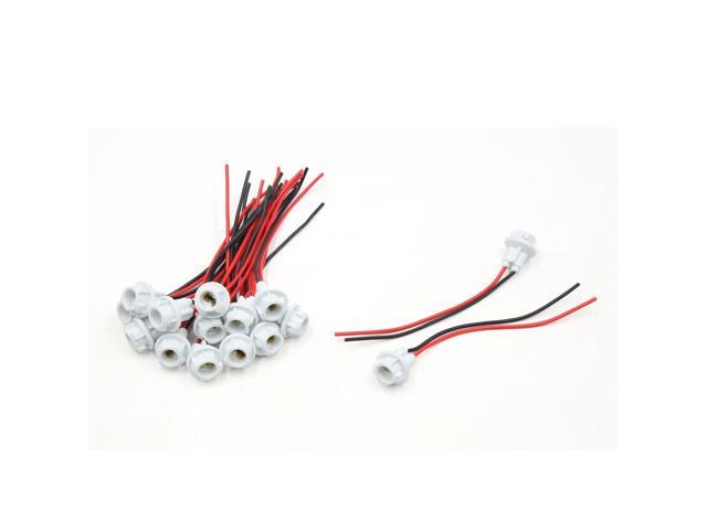 15pcs t10 led light bulb socket holder wiring harness