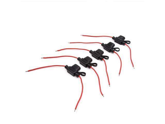 5pcs waterproof mini red wire black plastic shell wired