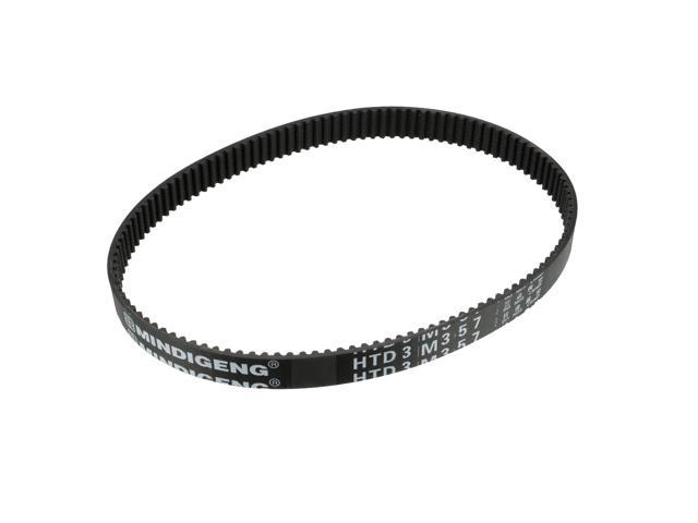 unique bargains htd3m357 rubber timing belt synchronous closed loop timing belt 10mm width
