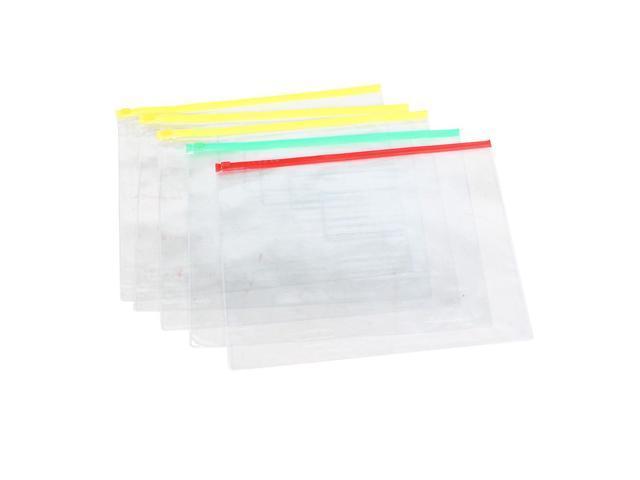 fc092edfb172 Unique Bargains Zip Lock Bags Pockets for Pen A4 Paper Files Folders  Storing 5 Pcs - Newegg.com