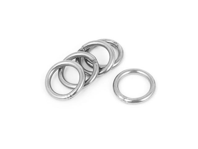 3mmx20mm stainless steel welded o ring 5pcs for bags key