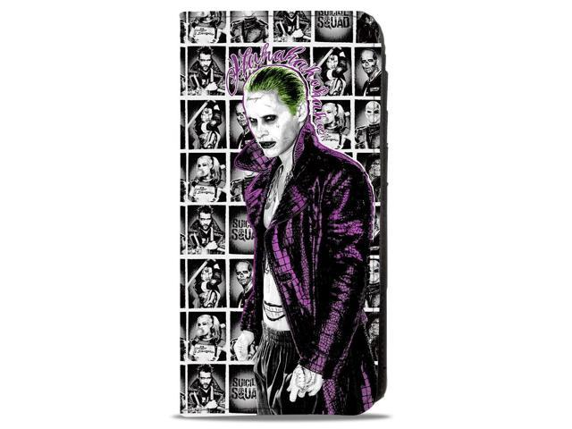 8031f211316fc Suicide Squad Joker Pose2 Hahaha 7 Character Pose Blocks White Grays Black  Canvas Snap Wallet