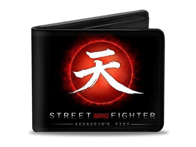 Street Fighter Assassins Fist Akuma Symbol Rising Sun Black Red
