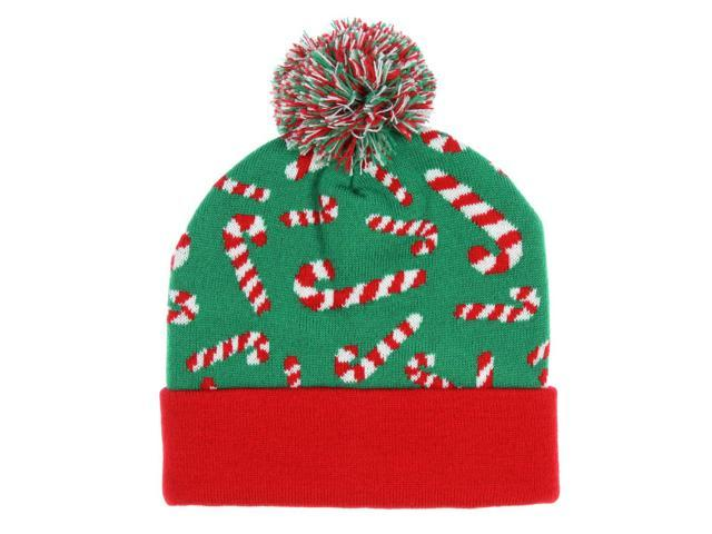 555829c7b11 Bioworld OMG So Ugly Holiday Allover Candy Cane Knit Beanie ...