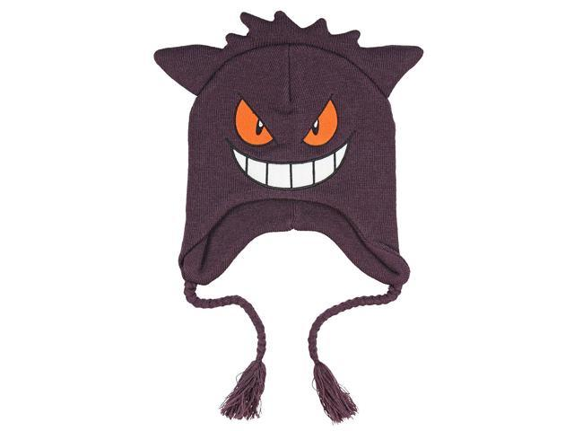 2682821291b Pokemon Gengar Face 3D Plush Laplander Beanie One Size ...