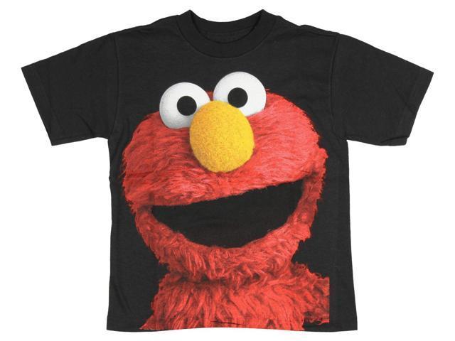 318f9e039 Sesame Street Lovable Elmo Big Face Photo Little Boys T-Shirt ...