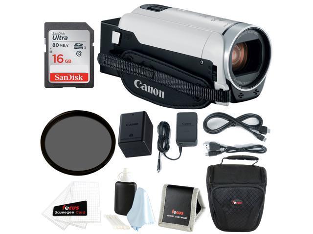 2a1d7867ea7 Canon VIXIA HF R800 Camcorder (White) with 16GB Essential Bundle ...