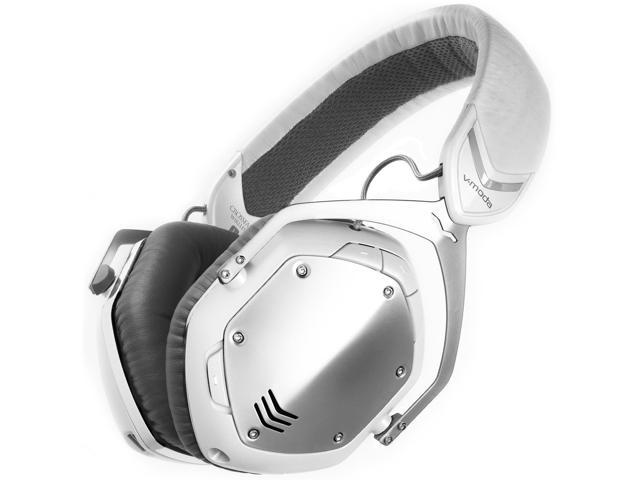 v moda crossfade bluetooth over ear headphones white silver. Black Bedroom Furniture Sets. Home Design Ideas