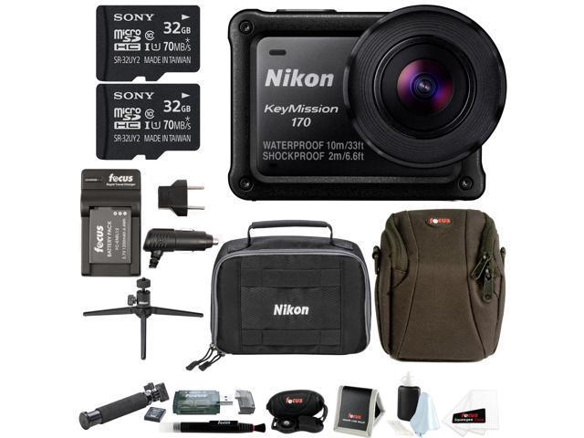 los angeles wholesale sales best shoes Nikon KeyMission 170 w/ Nikon Accessory Pack & 64GB SD Card Bundle -  Newegg.com