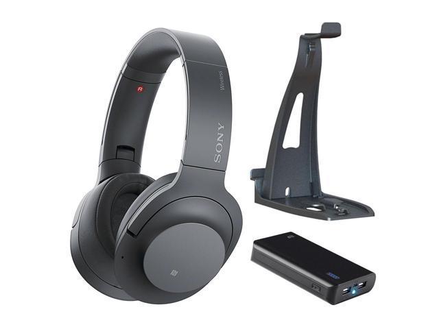 ecd4499fbbc258 Sony - H900N Hi-Res Noise Cancelling Wireless Headphone Grayish Black Bundle