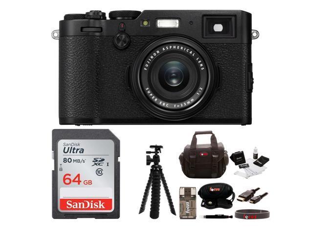 Fujifilm X100F Digital Camera with 64gb Gadget Bag (Black) - Newegg com