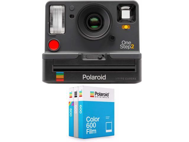 polaroid onestep2 i type rechargeable camera graphite w core film triple pack. Black Bedroom Furniture Sets. Home Design Ideas