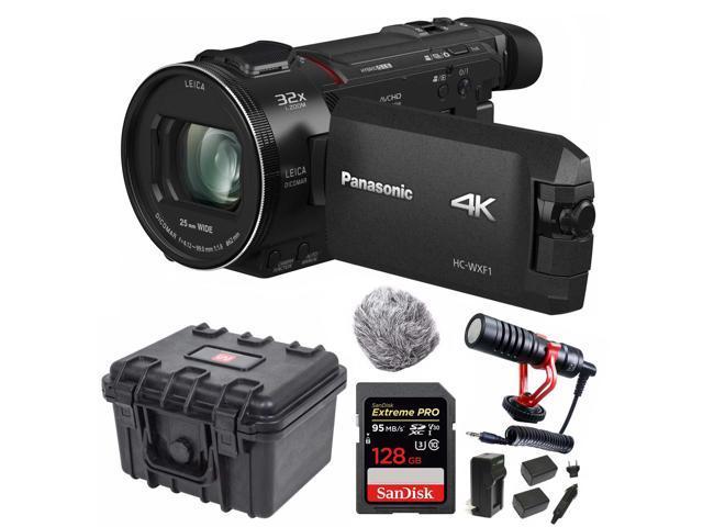 Panasonic HC-VX1 4K Camcorder with 24X Leica Lens and Video Microphone  Bundle - Newegg com