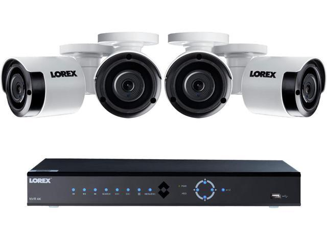 Lorex 8ch 4k Ultra Hd Ip Nvr 2tb Security System With Four