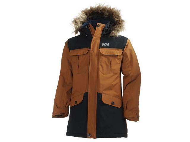 56b39fbd0320 Helly Hansen Coat Girls JR Legacy Windproof 16 Single Malt 40279 ...