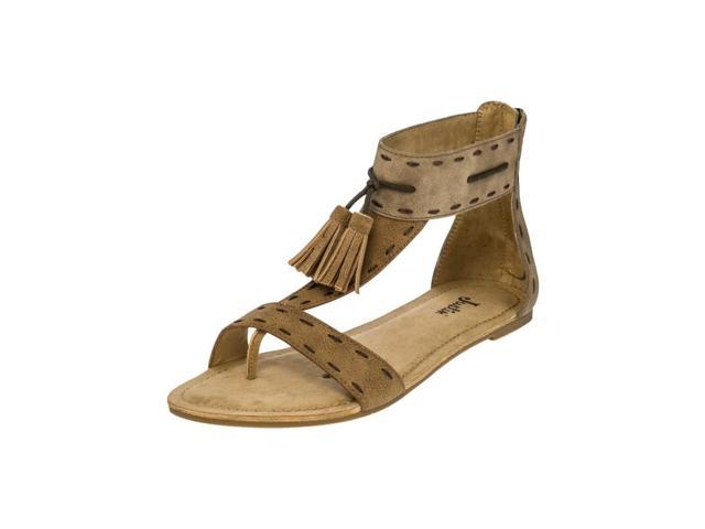624c423a0774f3 Justin Casual Shoes Womens Tassel Sandals Unit Heel 5 M Tan LS101 -  Newegg.com