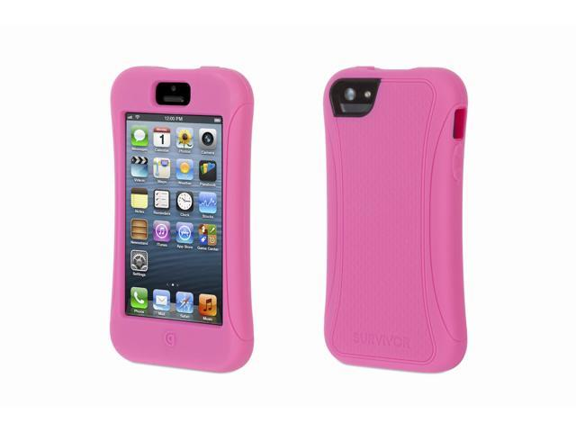 sale retailer 85d6a 75bb8 Griffin Hot Pink Survivor Slim Protective Case for iPhone 5/5s Mil-Spec  Rugged Slimmed Down for the Street - Newegg.com