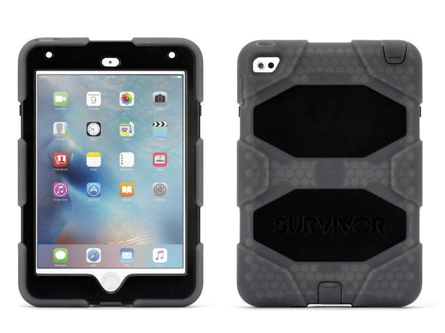 Griffin Ipad Mini 4 Case With Stand Smoke And Black Survivor All Terrain