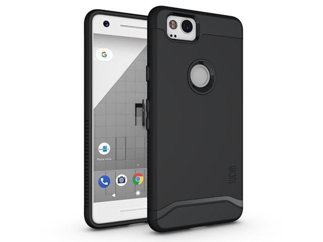 purchase cheap 5b00e 66c4b Tudia Slim-Fit HEAVY DUTY [MERGE] EXTREME Protection / Rugged but Slim Dual  Layer Case for Google Pixel 2 (2017) (Matte Black) - Newegg.com