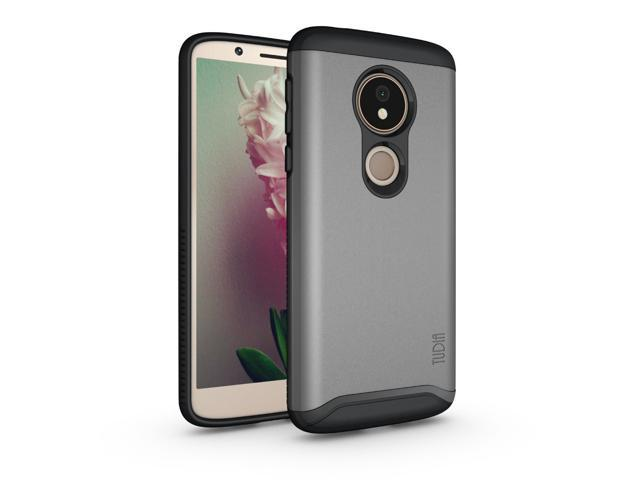 Moto G6 Play Case, TUDIA Slim-Fit [Merge] Extreme Protection/Rugged Dual  Layer Precise Cutouts Phone Cover for Moto G6 Play (Metallic Slate) -