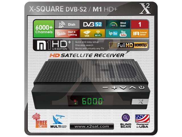 X2 M1 HD DVB-S2 (FTA) Free To Air with IPTV Mini Hybrid Satellite Receiver