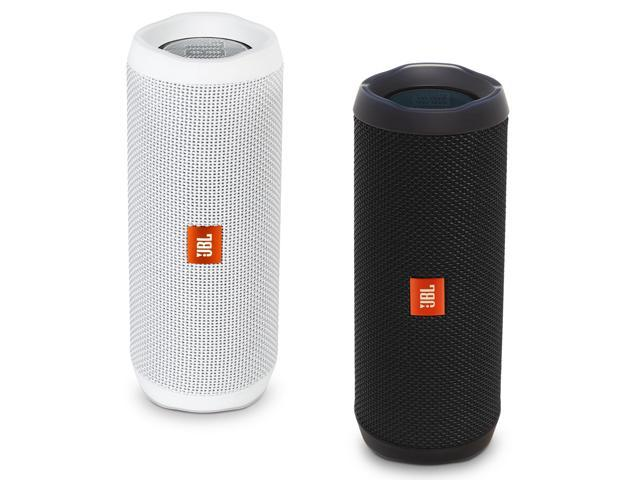 JBL Flip 4 Bluetooth Speaker, Pair (Black & White) - Newegg com