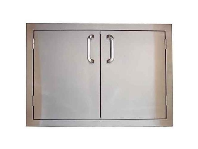 27 Inch Double Access Stainless Steel Door For Outdoor Grill Island 30 In