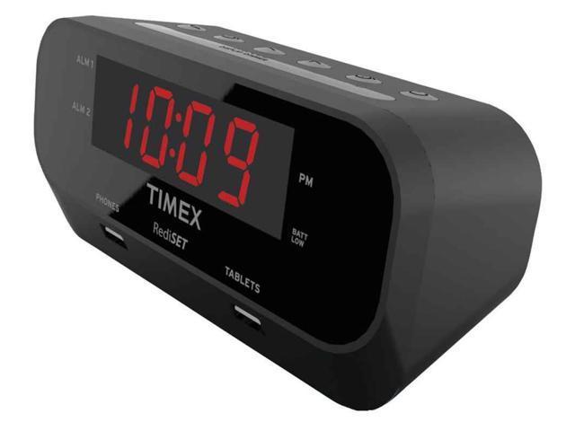 timex t129b rediset dual alarm clock with dual usb newegg com rh newegg com timex redi set alarm clock manual t236 timex redi set alarm clock xbbu manual