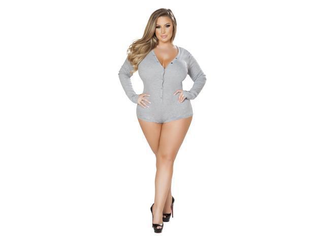 ee36e5d1a29 Roma Costume LI211-Grey-M-L Cozy   Comfy Sweater Romper