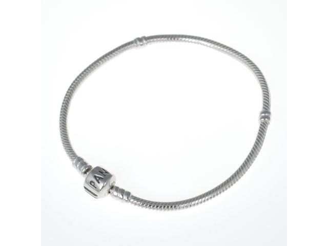 865445b2f0e Genuine PANDORA Sterling Silver 7.9 Bead Clasp Charm Bracelet ...