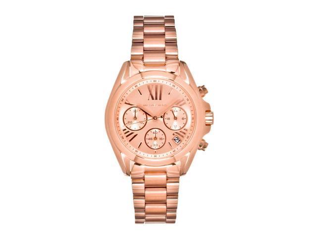 9eb955134f9d Michael Kors Bradshaw Chronograph Rose Gold Womens Watch MK5799 ...