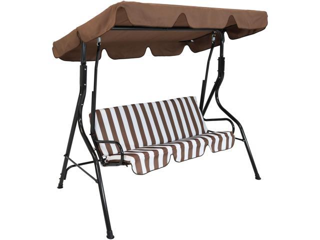 Sunnydaze Outdoor Porch Swing With Adjustable Canopy And
