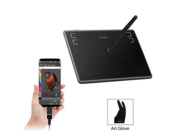 Huion H430P OSU Graphics Drawing Tablet with Glove and 4 Express Keys,  Battery-Free Stylus, Compatible with Mac, PC or Android Mobile - Newegg com