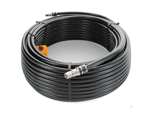 RG-11 75 Ohm Coax Cable F Male Scanner Antenna Satellite Cell Security TV  100FT
